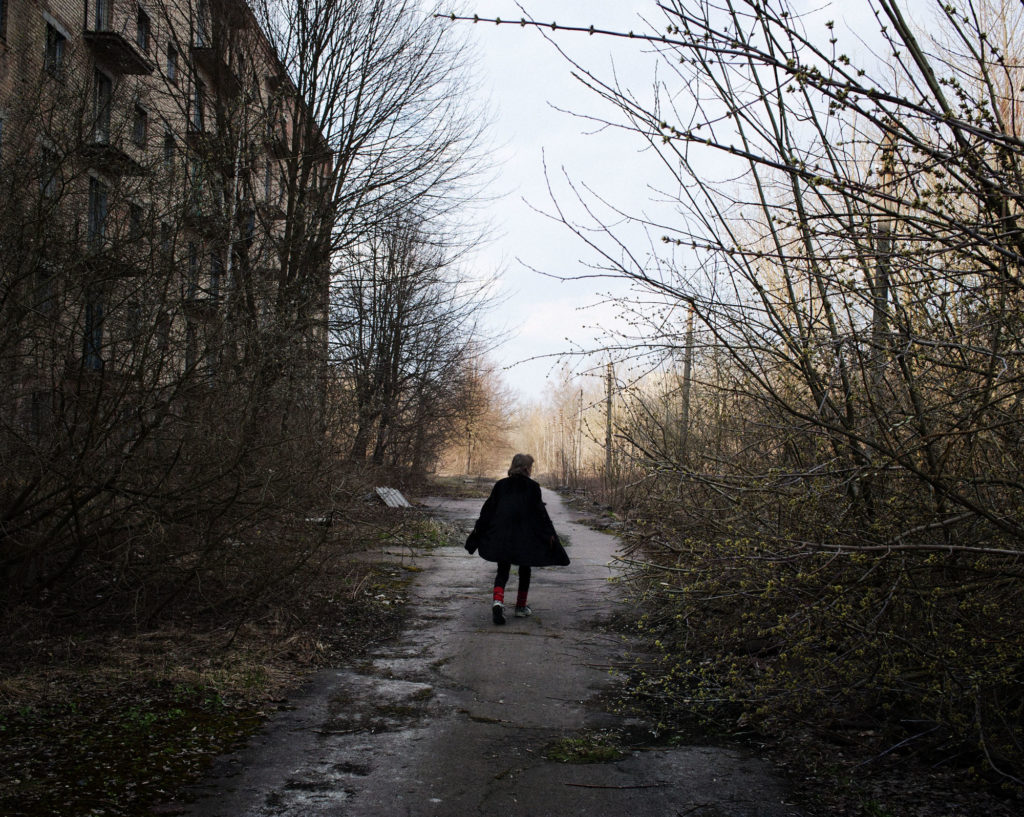 Larissa, 48 years old, one of the last residents of the Poliskie city in the Chernobyl Zone. This city of 20 000 citizens was evacuated ten years after the nuclear catastrophy. today, around 10 peoples live here.